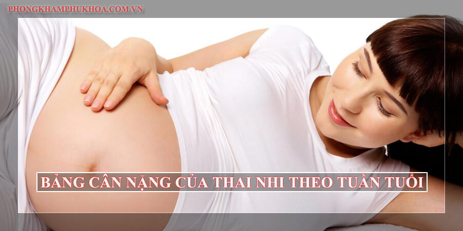 Bảng cân nặng của thai nhi theo tuần tuổi